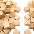 "Wooden Cubes: 1"" Plain - Set of 100"