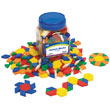 Pattern Blocks: Plastic 1cm - Set of 2000 in Tub