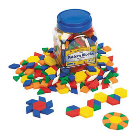 Pattern Blocks: Plastic 0.5cm - Set of 250