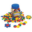 Pattern Blocks: Hollow Plastic 1cm - Set of 250