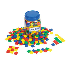 Color Tiles: Plastic 4mm - Set of 2000 in Tub