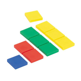 Color Tiles: Thin Plastic 2mm - Set of 400