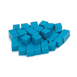 Base Ten Units: Blue Plastic - Set of 1000