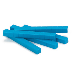 Base Ten Rods: Blue Plastic - Set of 500 in Tub