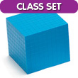 Base Ten Cube: Blue Plastic - Set of 25 in Tub