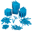 Base Ten Intermediate Classroom Set: Blue Plastic - Blocks Only