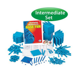 Base Ten Intermediate Set: Blue Plastic in Tub