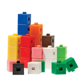 Interlocking Centimeter Cubes - Set of 500