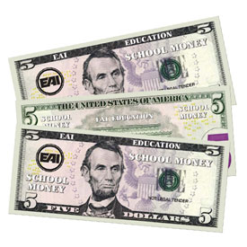Paper Money - $5 - Set of 1000
