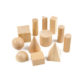 Wooden GeoModel® Solids Intermediate Set - Set of 12