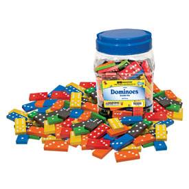 Double-Six Dominoes: Wood: Color - 30 Sets of 28 in Tub