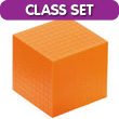 Base Ten Cube: Orange Plastic - Set of 25 in Tub
