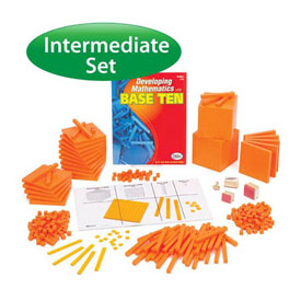 Base Ten Intermediate Classroom Set: Orange Plastic in Tub