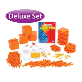 Base Ten Deluxe Classroom Set: Orange Plastic in Tub