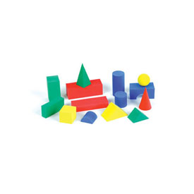 QuietShape® Foam Geometric Solids - Set of 36