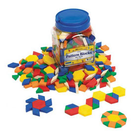 QuietShape® Foam Pattern Blocks 0.5cm - Set of 250