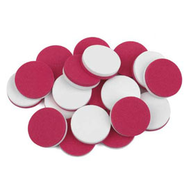 QuietShape® Foam Two-Color Counters: Red/White - Set of 1000