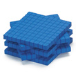 QuietShape® Foam Base Ten Flats: Blue - Set of 250 in Tub