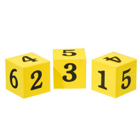 Jumbo QuietShape® Foam Number Dice - Set of 36 in Tub