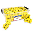 Jumbo QuietShape® Foam Numeral Dice - Set of 36 in Tub