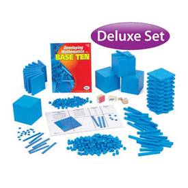 QuietShape® Foam Base Ten Deluxe Classroom Set: Blue in Tub