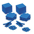 Base Ten Intermediate Classroom Set: Blue QuietShape® Foam - Blocks Only