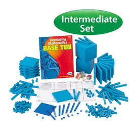 QuietShape® Foam Base Ten Intermediate Classroom Set: Blue in Tub