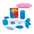 QuietShape® Base Ten Primary Set: Blue in Tub