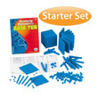 QuietShape® Foam Base Ten Starter Set: Blue in Tub