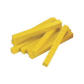 Base Ten Rods: Yellow Plastic - Set of 500 in Tub