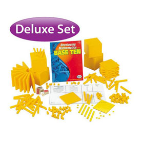 Base Ten Deluxe Classroom Set: Yellow Plastic in Tub