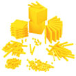 Base Ten Intermediate Classroom Set: Yellow Plastic - Blocks Only