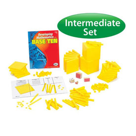 Base Ten Intermediate Classroom Set: Yellow Plastic in Tub
