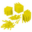 Base Ten Primary Set: Yellow Plastic