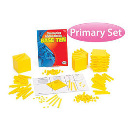 Base Ten Primary Set: Yellow Plastic in Tub