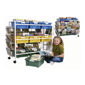 Leveled Reading Book Browser Cart with 9 Tubs