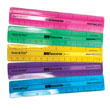 "6"" ShatterProof Ruler: Assorted Colors - Set of 10"