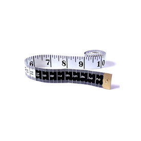 English/Metric Tape Measure: White/Black - Set of 10
