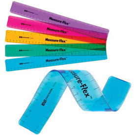 "12"" Measure-Flex™ Ruler: Assorted Colors - Set of 100 in Tub"