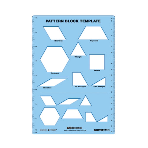 Pattern Block Template ManipUView  Common Core State