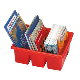 Royal™ Divided Book Tub - Red