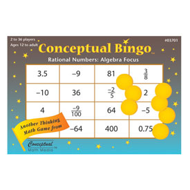Conceptual Bingo™ Rational Numbers: Algebra Focus