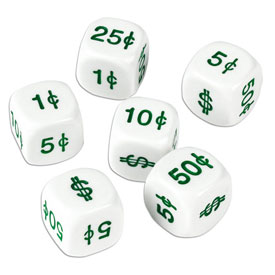 Money Dice - Set of 6
