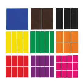 Fraction Squares: Blank - Set of 51