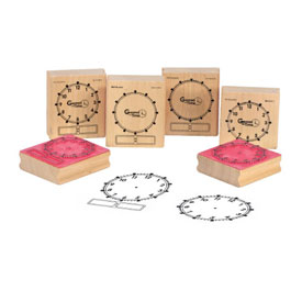 Wooden Geared for Time® Clock Stamps: Set of 6