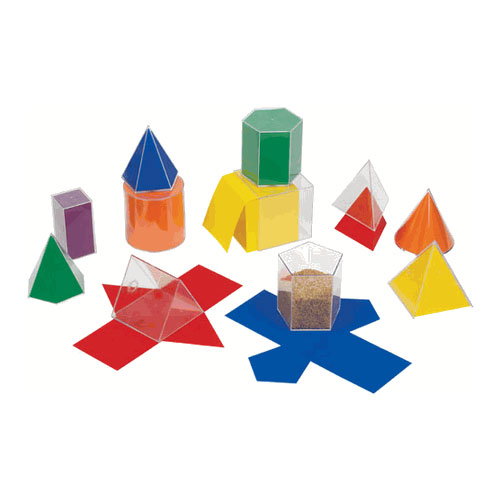 GeoModel® Folding Shapes: 10 cm - 11 Solids and 11 Nets