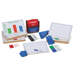 "Centimeter Grid Dry-Erase Boards: 9""x12"" Single-Sided Kit"