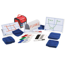 "X-Y Axis Grid Dry-Erase Boards: 9""x12"" Flexible Double-Sided Kit"