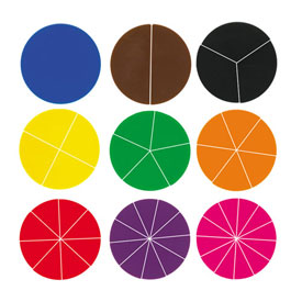 Deluxe Fraction Circles: Blank - 30 Sets of 51 in Tub