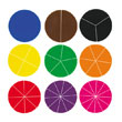 Deluxe Fraction Circles - 30 Sets of 51 in Tub
